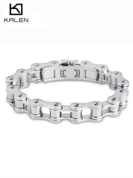 Men Bike Chain Bracelet Stainless Steel Biker Bicycle