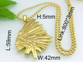 Stainless Steel Gold-plating Pendant