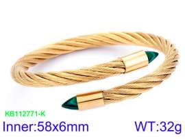 Stainless Steel Wire Bangle